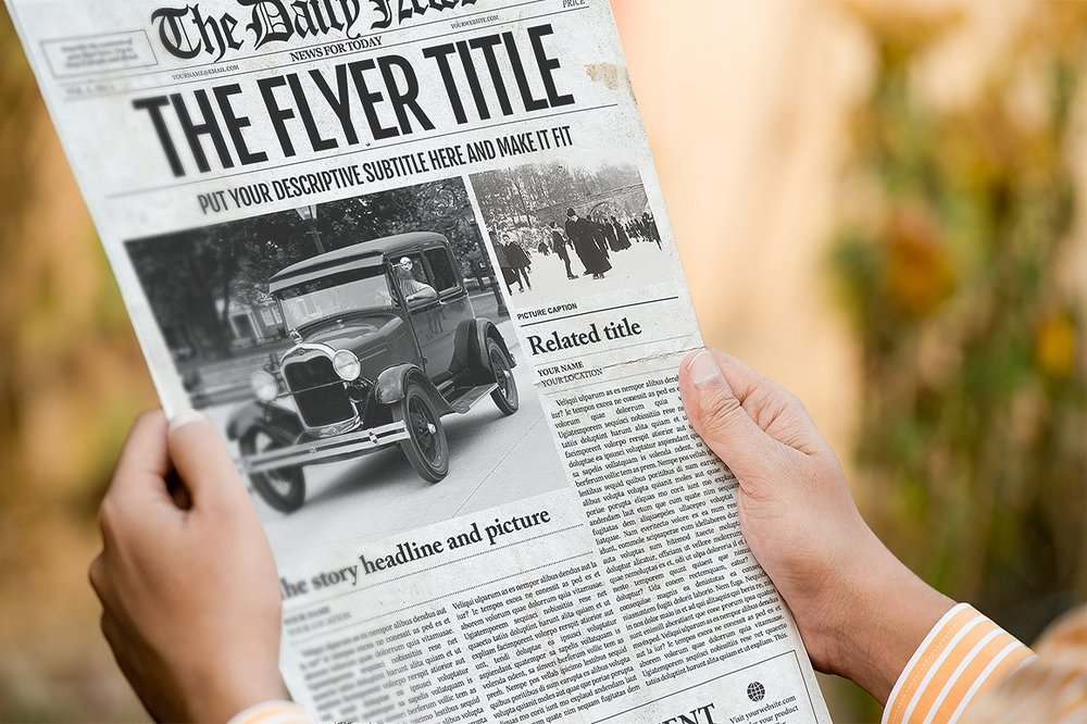 Newspaper Template 1 Page Newspaper Template Adobe Photoshop