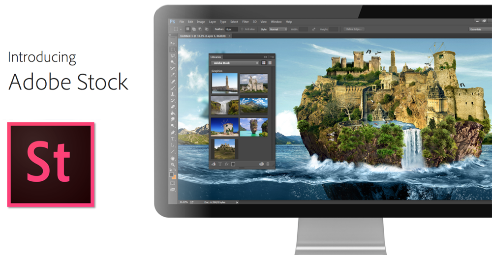Adobe Stock images can be searched from within Photoshop