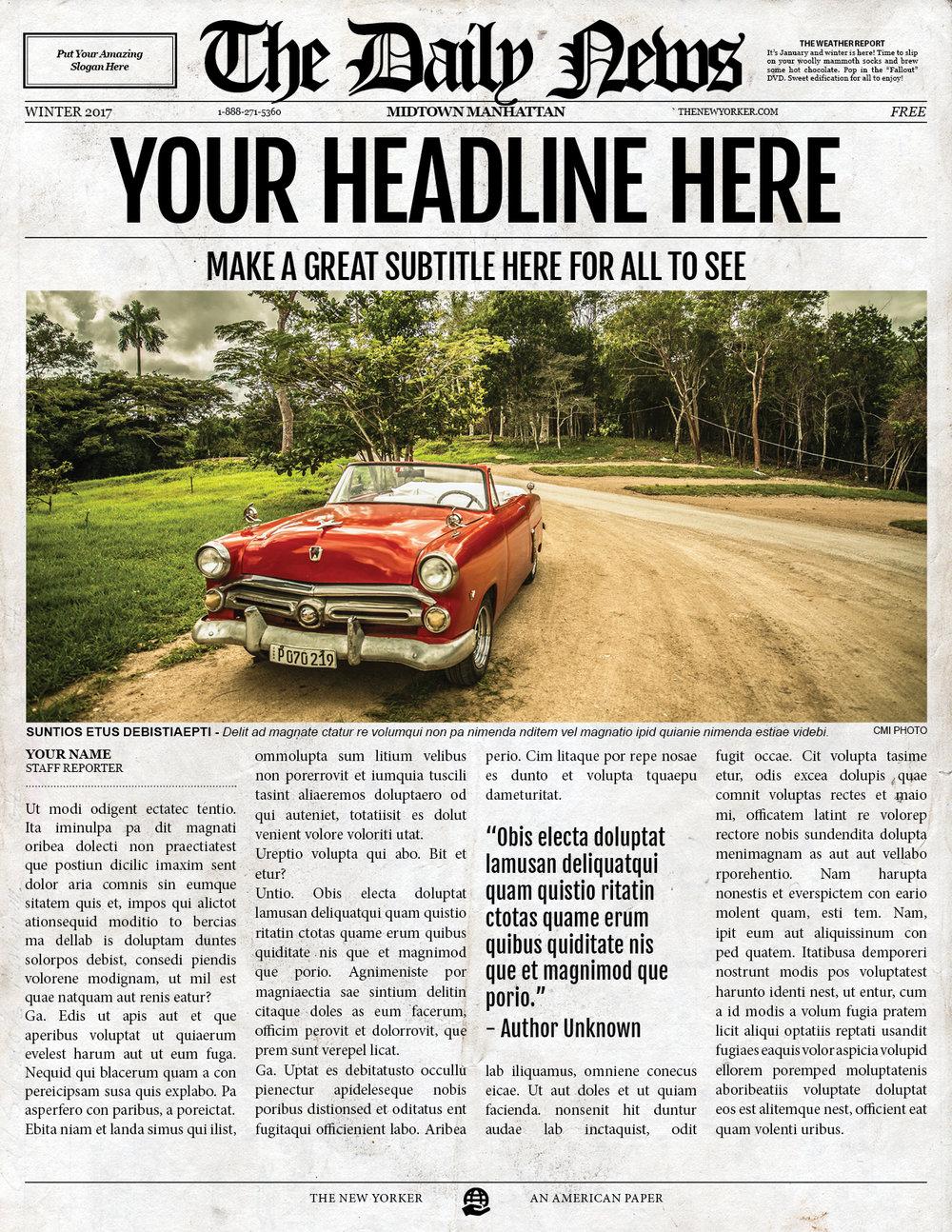 1 Page Letter U0026 Ledger Newspaper Template Bundle For Adobe InDesign