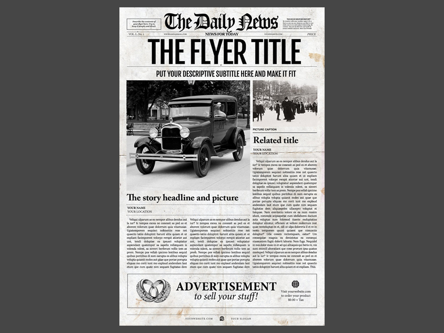 NewspaperdesignersCom  Old Newspaper Template S Vintage