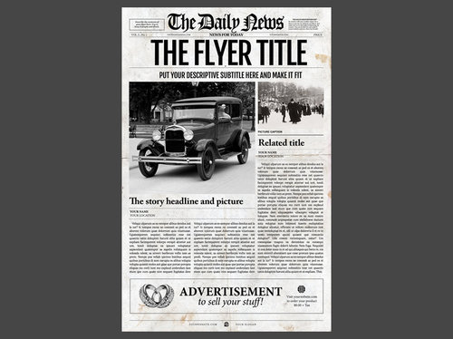 Newspaper Template Newspaper Designers