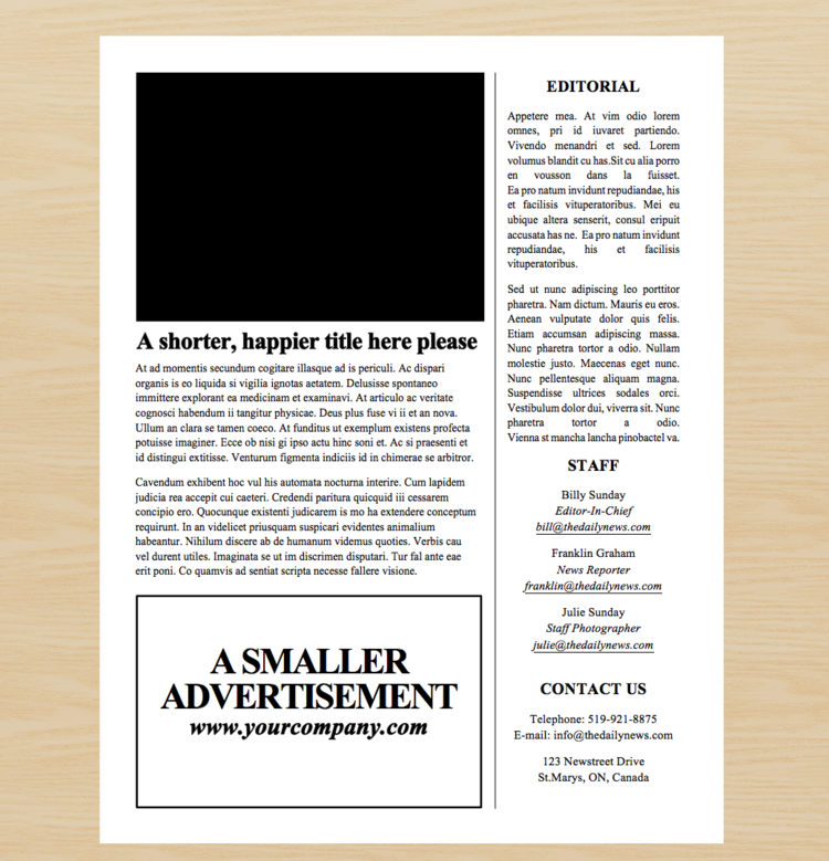 Simple 4 page microsoft word newspaper template free fonts screen shot 2017 10 17 at 53319 pmg pronofoot35fo Choice Image