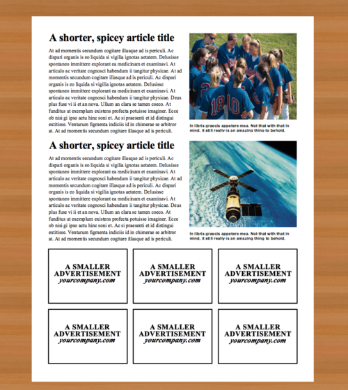 Newspaper Template - 4 Page Newspaper Template Microsoft Word (8.5 ...