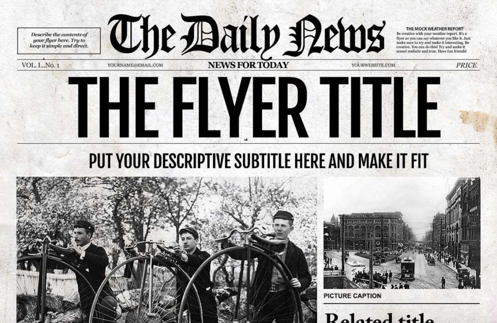 1930s Newspaper Template Images Template Design Free Download