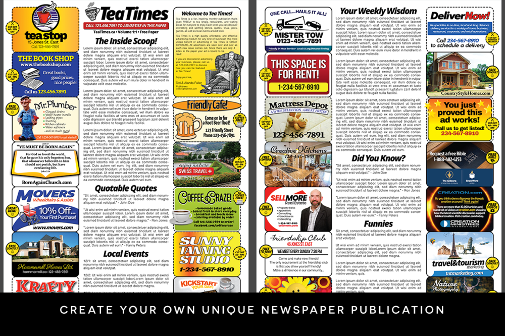 Newspaper Template Page Newspaper Template Adobe Illustrator - Facebook ad template illustrator