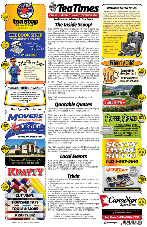 Newspaper Template 2 Page Newspaper Template Adobe Illustrator