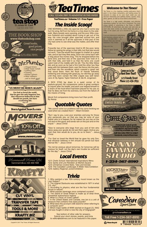 Newspaper Template - 2 Page Newspaper Template Adobe Illustrator ...