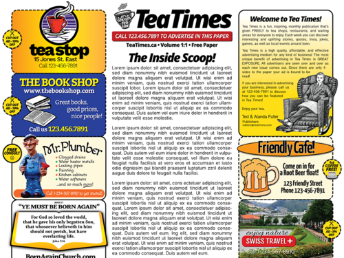 Newspaper template 2 page newspaper template adobe illustrator 11x17 inch maxwellsz