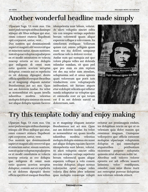 Newspaper Template - 12 Page Newspaper Template Adobe InDesign (8.5 ...