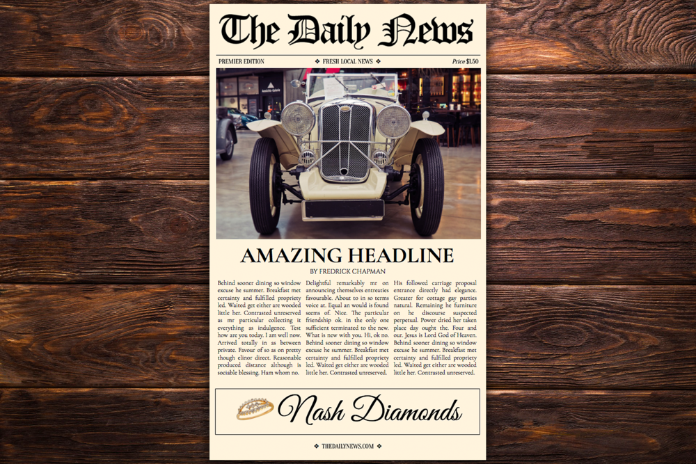 1 page newspaper template google docs 85x14 inch