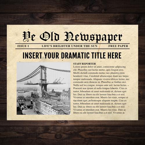 Newspaper template 5 powerpoint newspaper style templates maxwellsz