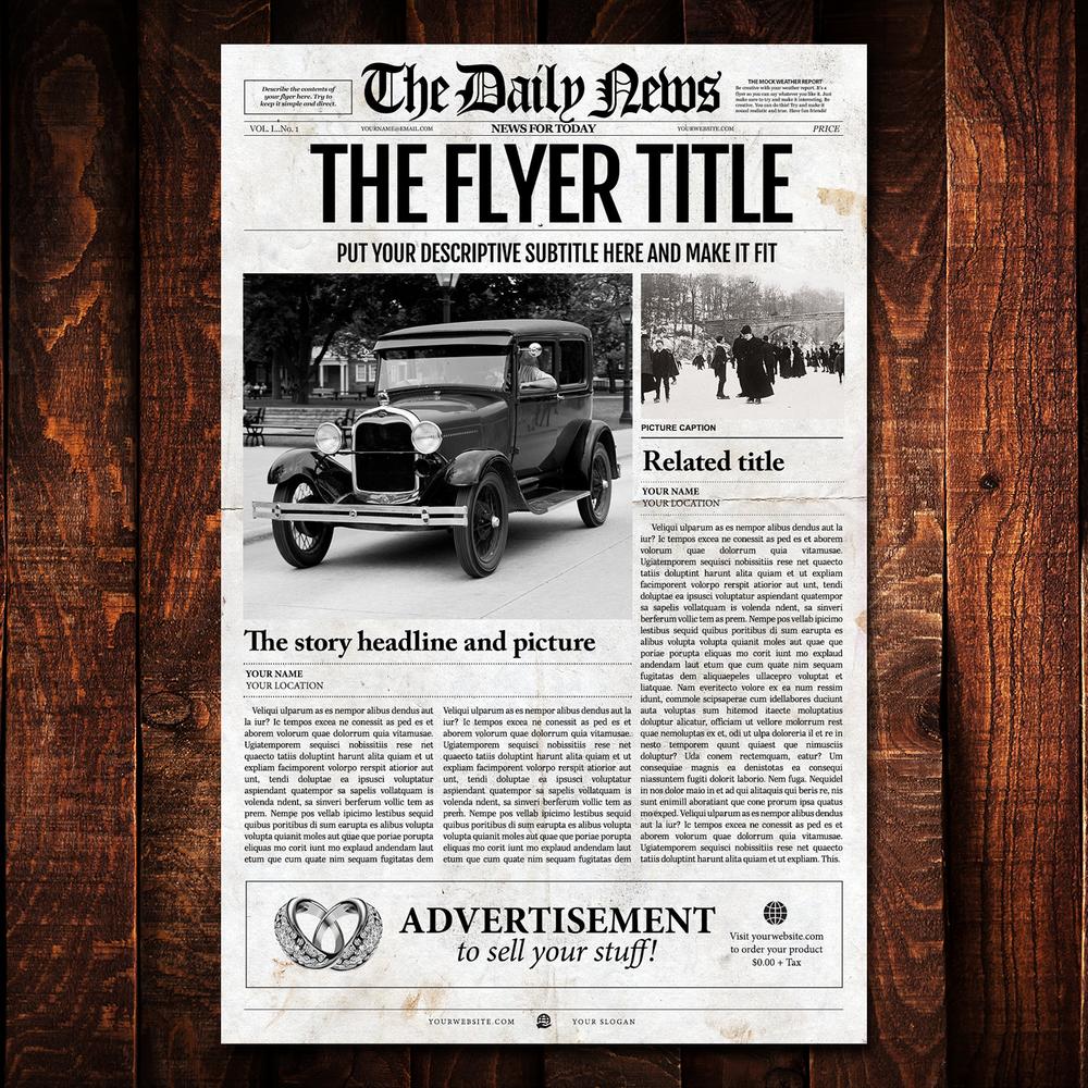 newspaper template 1 page newspaper template adobe photoshop 11x17 inch newspaper designers