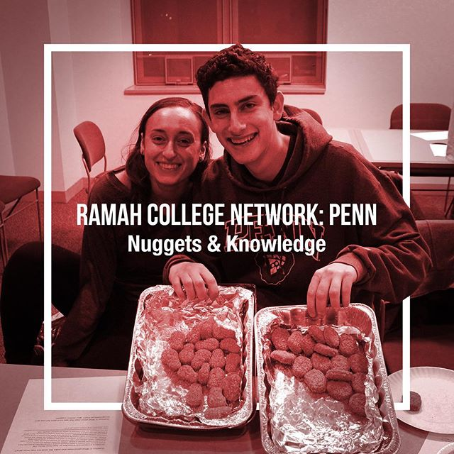 Ramah College Network at the University of Pennsylvania enjoyed a limmud session with Rabbi Ariella Rosen—JTS Director of Admissions—about Kashrut and ethics, followed by a delicious chicken and veggie nugget tasting!