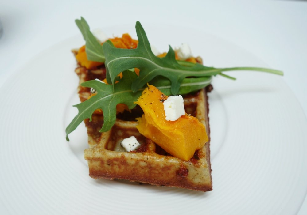 TIANN'S Waffles with Roasted Butternut Squash