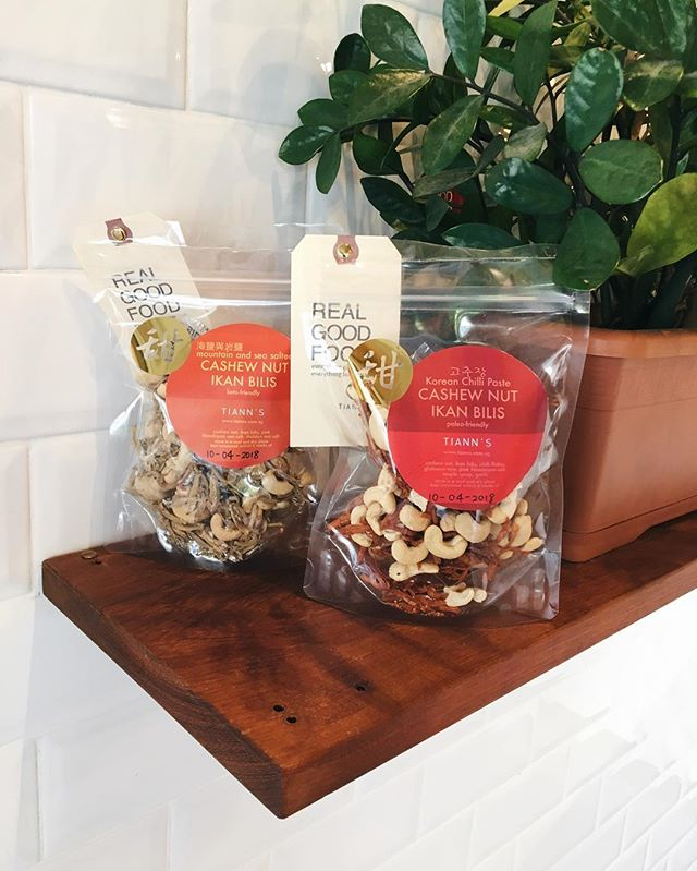 New ikan bilis snacks - in mountain & sea salt ⛰ and Korean chilli paste 🌶. Both #paleofriendly! • • • • • #coffee #cafe #cafehopping #sgcafe #sgdessert #instafoodsg #sgfoodies #food #paleo #keto #glutenfree #sglife #tiongbahru #bakery #sg #singapore #sgcafehopping #coffeelove #gelato #dairyfree #icecream #healthy #realfood