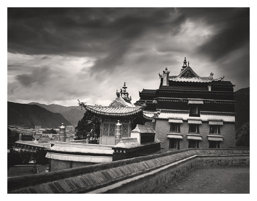 Dark Clouds over Monastery (Tibet)