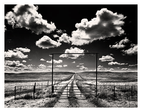 Private Road with Clouds