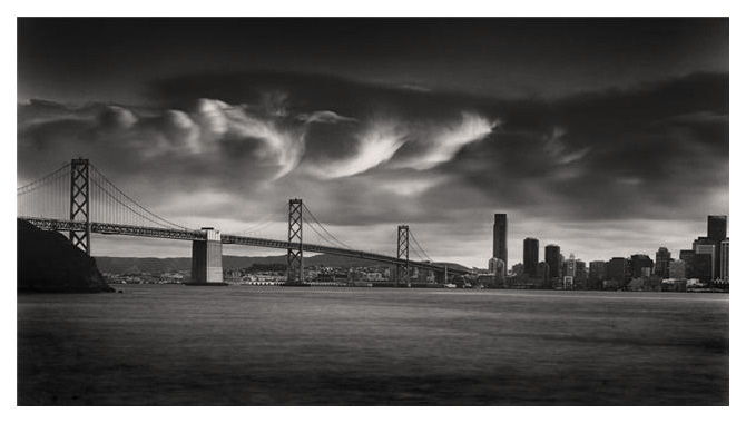 Billowing Clouds over Bay Bridge