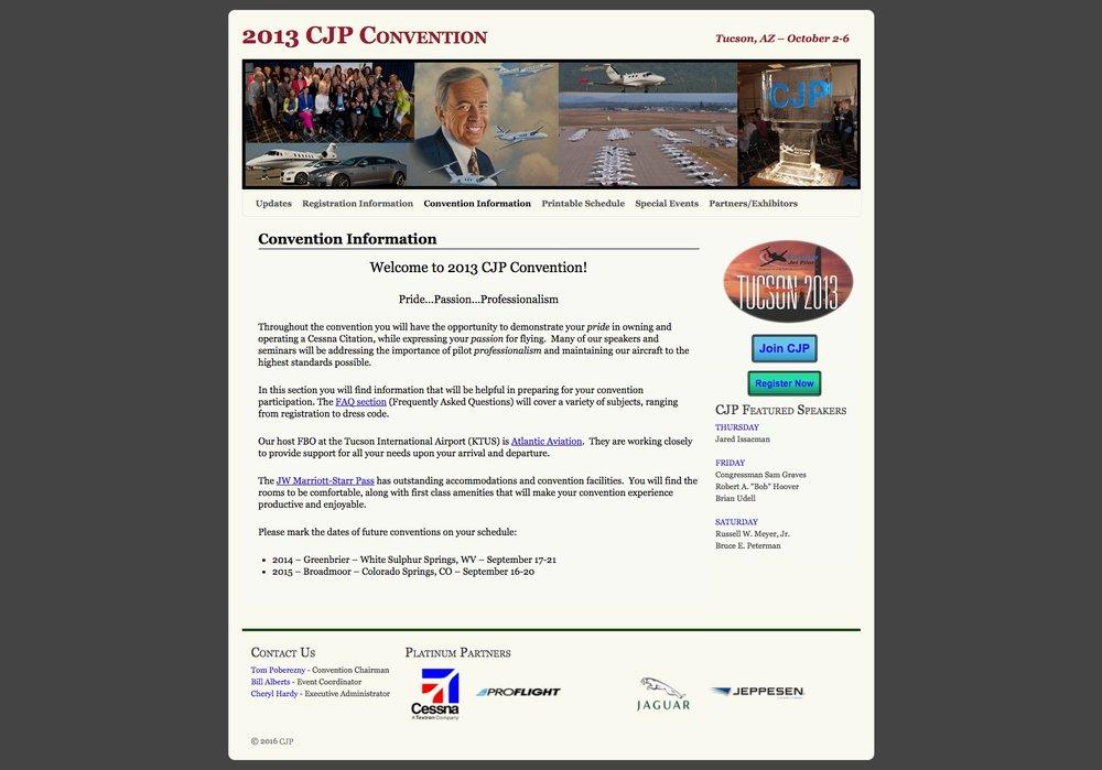 2013 CJP Convention Website