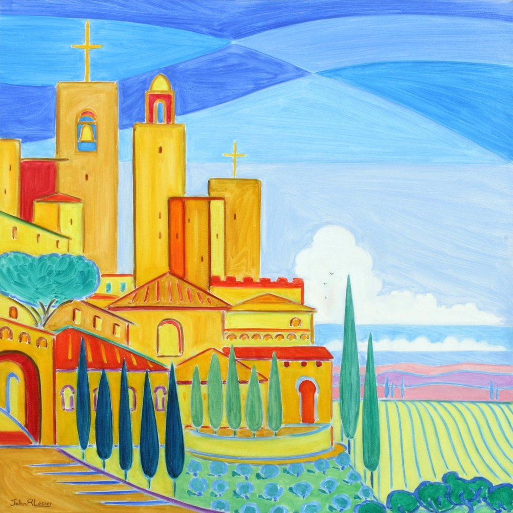 san Gimignano. Oil on Canvas, 50 x 50cm. NFS