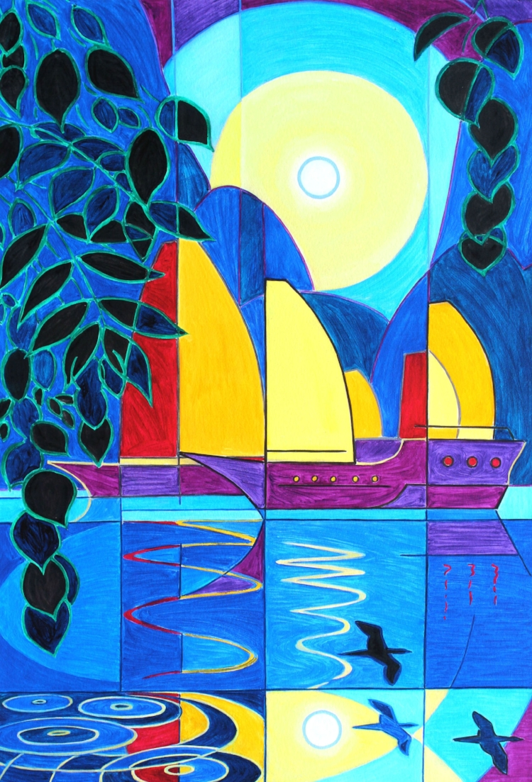 SOLD. Moonlight. Print