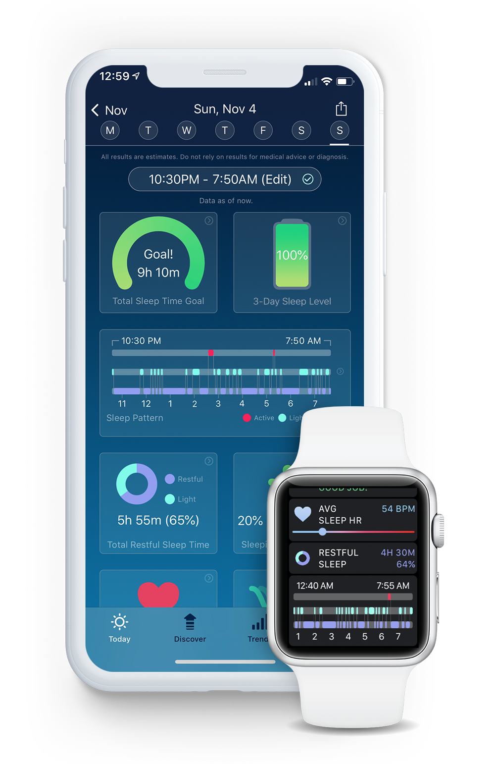 SleepWatch by Bodymatter on iPhone and Apple Watch