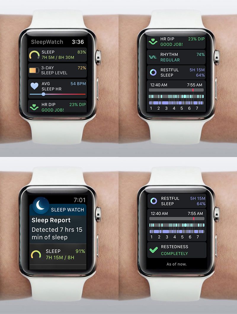 SleepWatch by Bodymatter on Apple Watch Screens