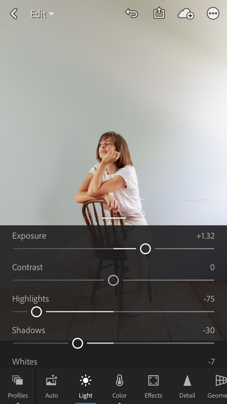 How to edit photos in Lightroom mobile app