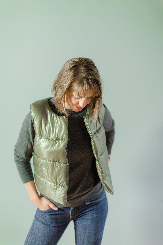 Puffy Wool Vest - Sarah Kirsten Blog