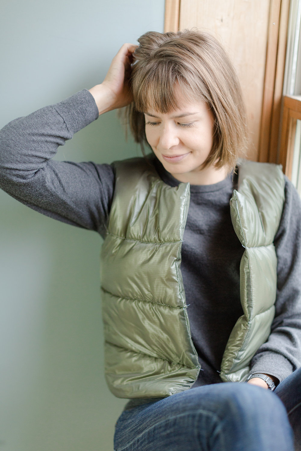 Puffy Wool Vest - Sarah Kirsten Blog