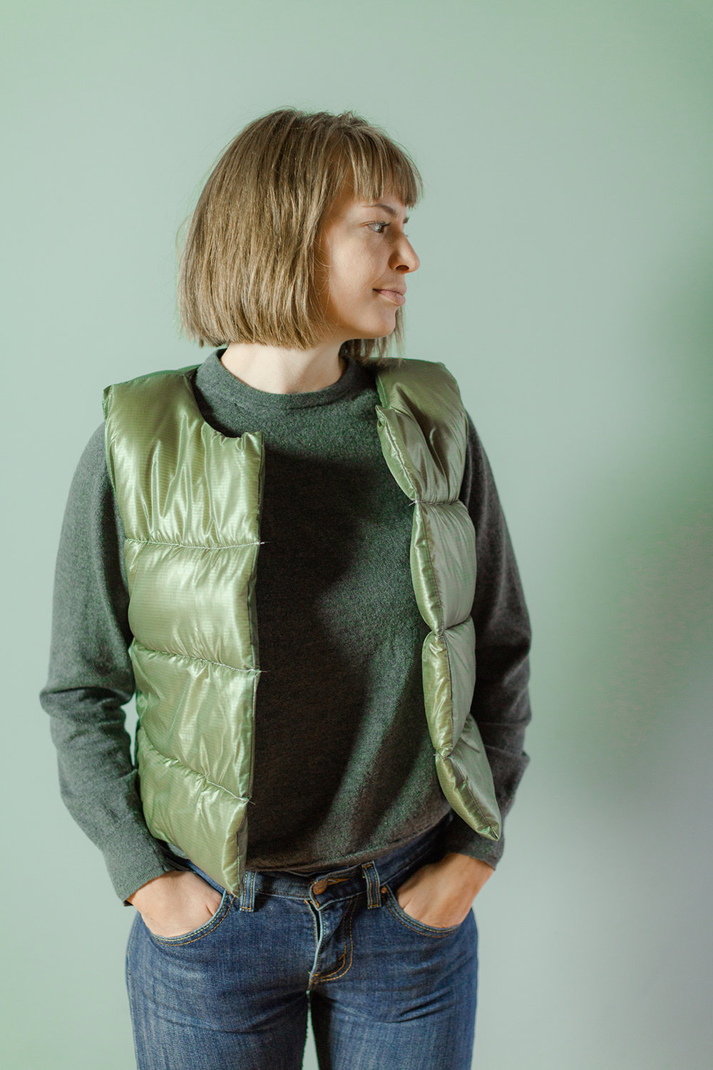 Puffy Wool Quilted Vest - Sarah Kirsten Blog
