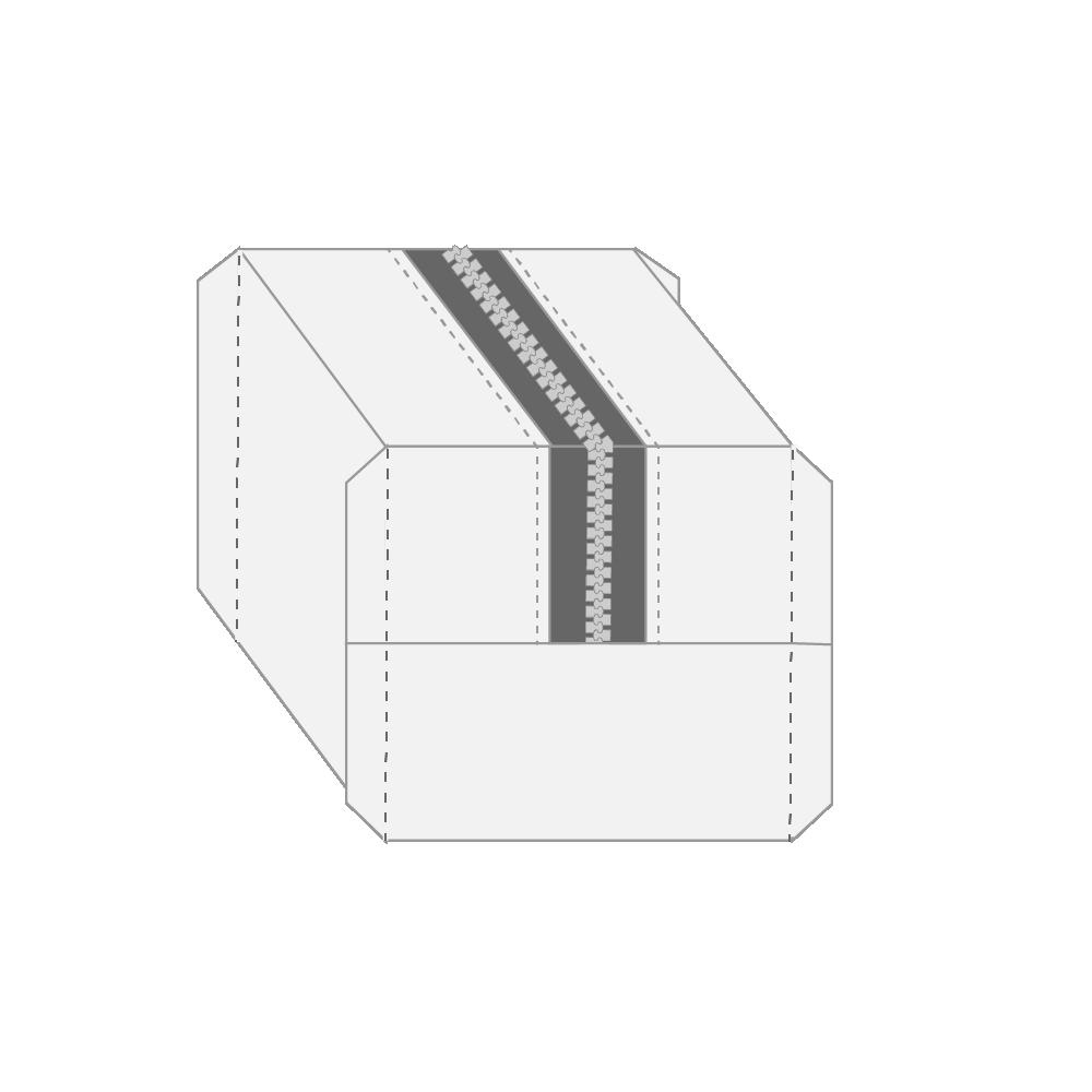 "10)  Trim the triangles to a 1/4"" | 0.64 cm seam allowance."
