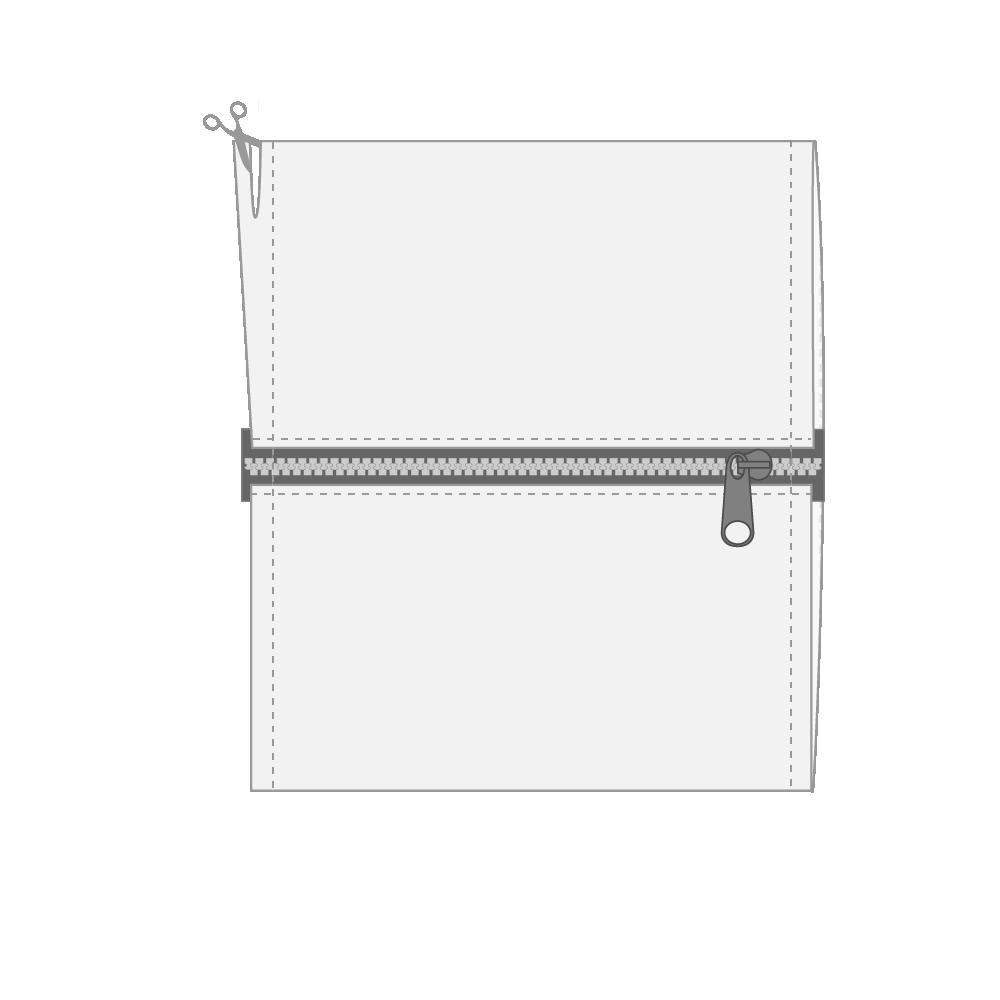 "7)  Trim seam allowance to 1/4"" | 0.64 cm prepare the edge for French seams."