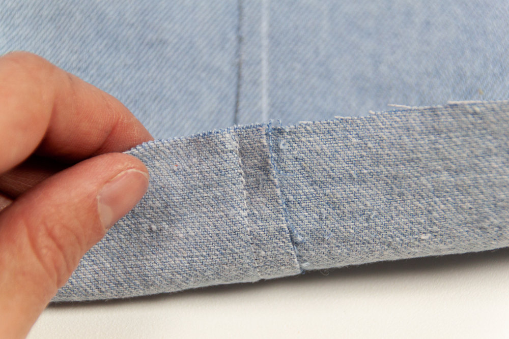 How to sew a Flat Felled Seam and a Double Lapped Seam  - Sewing tutorial with lots of photos from Sarah Kirsten