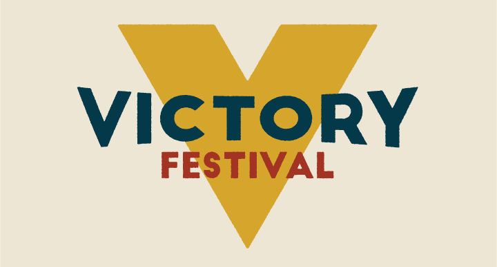Victory Festival logo designed by Bram Johnson