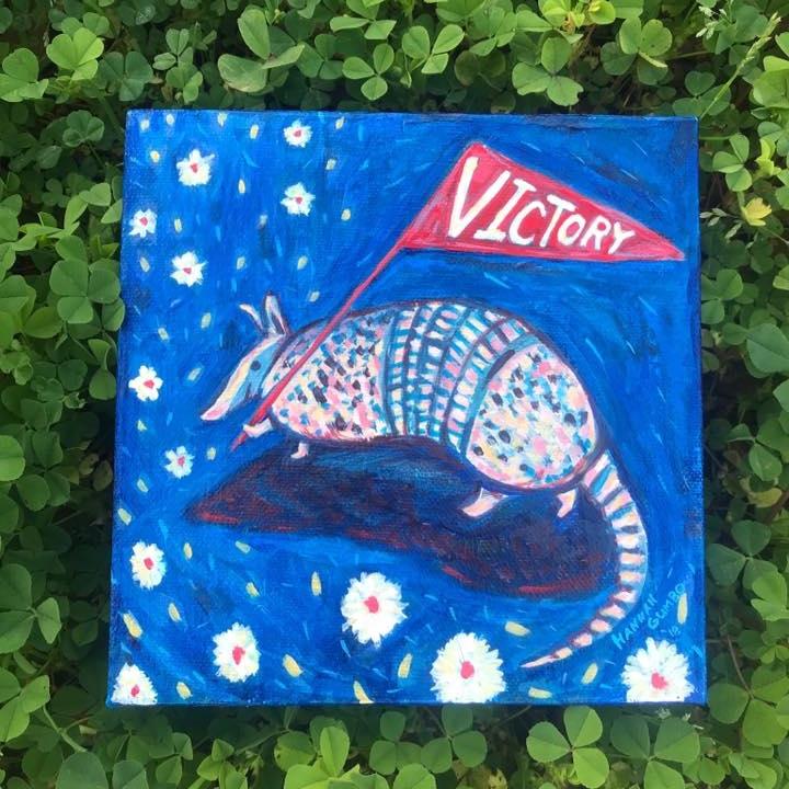 """Victory Armadillo"" by  Hannah Gumbo"