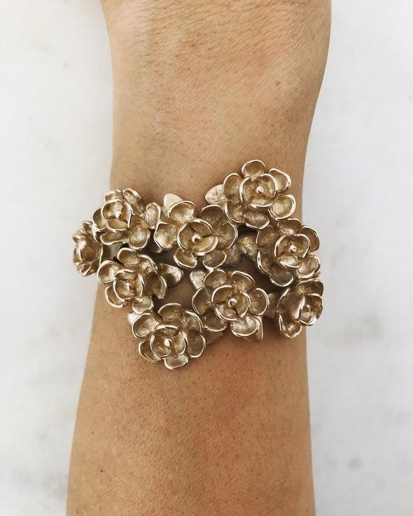"""Magnolia Corsage Cuff"" by  Mimosa Handcrafted"