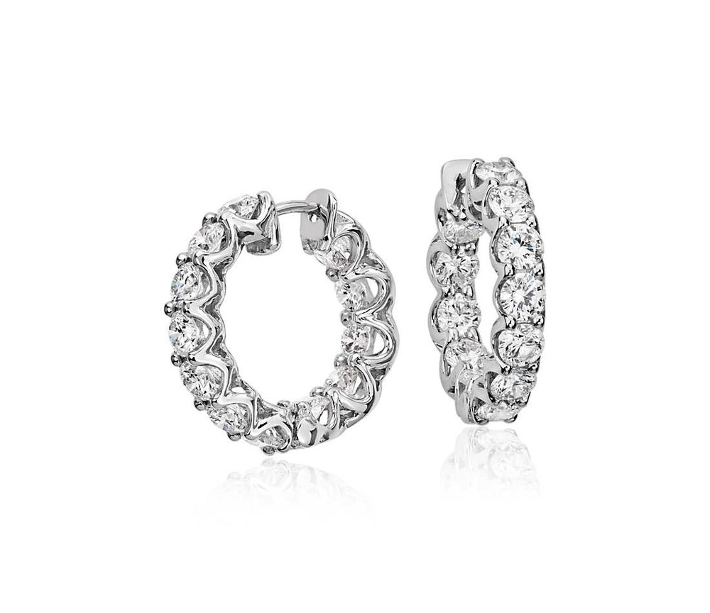 Make her Christmas brighter with some diamond earrings from the Jewelry Barn! We have the largest selection of diamond solitaire, halo, hoop and dangle earrings in the area at the best prices!