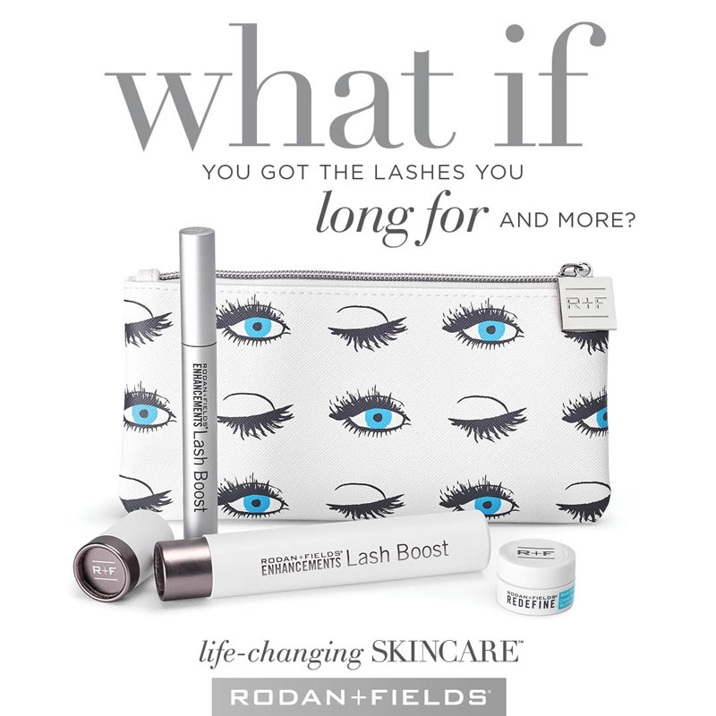 Rodan + Fields Lash Boost will give her longer lashes that are one hundred percent natural!