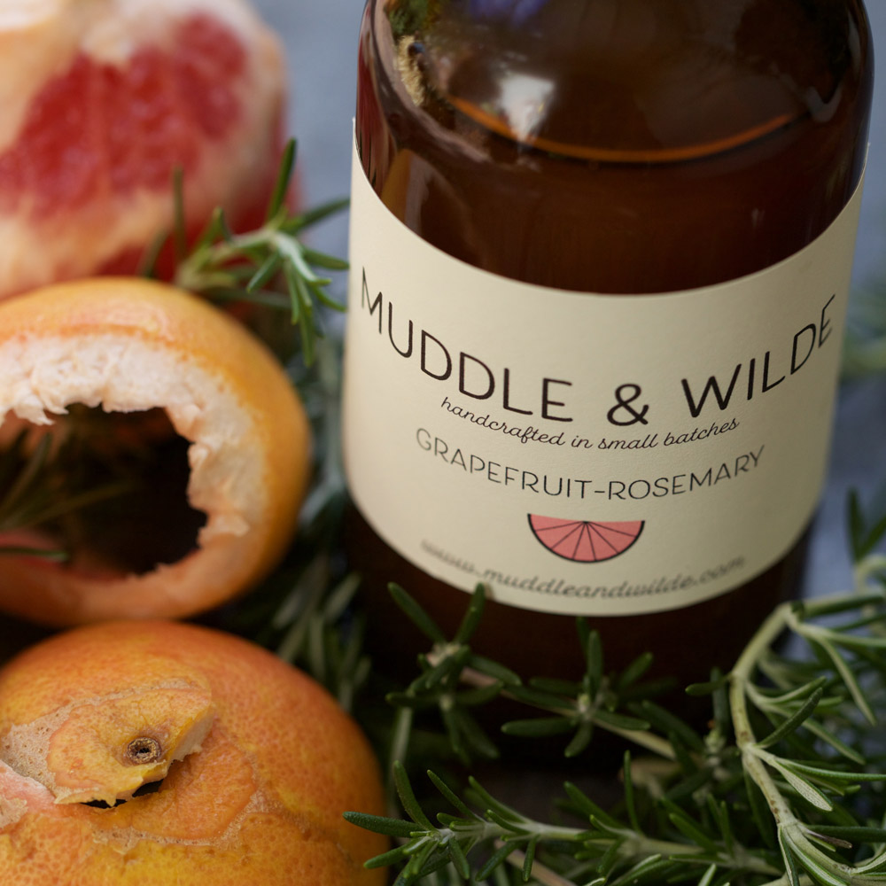 Grapefruit rosemary - Woody rosemary fused with invigorating grapefruit. Mix with gin, tequila, sparkling wine & soda water.