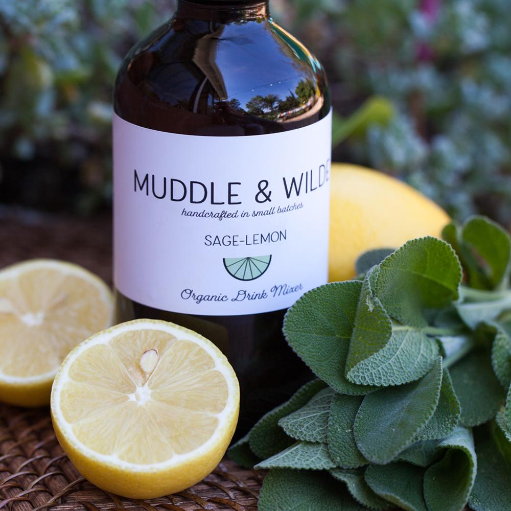 sage lemon - Herbaceous sage with invigorating lemon. Mix with vodka, gin, sparkling wine & soda water.
