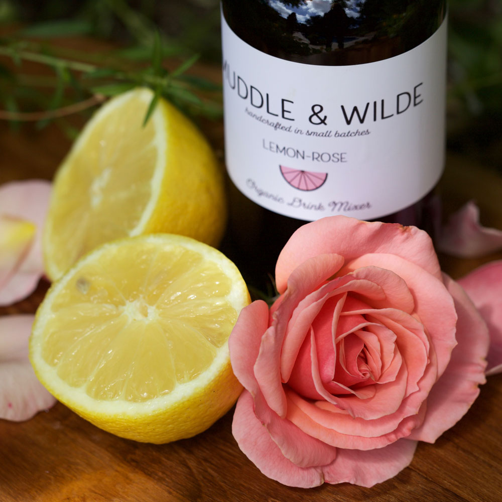 lemon rose - Delicate, fragrant rose pared with refreshing lemon. Mix with gin, sparkling wine, vodka and soda water.