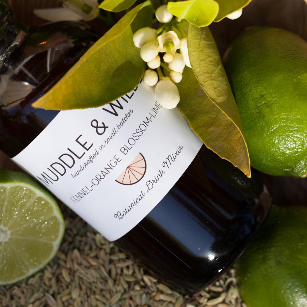 FENNEL ORANGE BLOSSOM LIME - Fennel Orange Blossom Lime. Mix with vodka, whiskey, champagne & soda water.