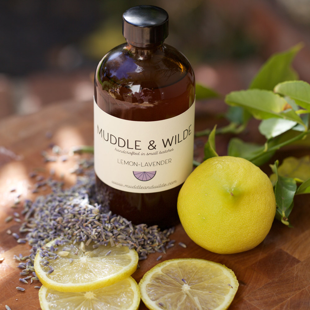 Lemon Lavender - Herbaceous lavender is perfectly paired with energizing lemon. Mix with vodka, gin, sparkling wine & soda water.