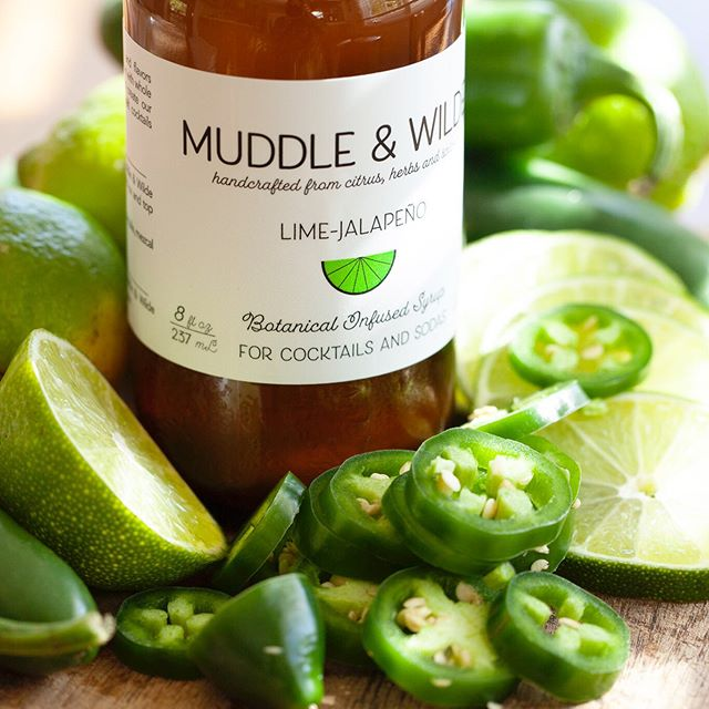 We're always starting out with whole citrus fruit and real herbs and spices to make our botanical syrups. It makes all the difference in taste! . . . #jalapeno #lime #spicymargarita #muddleandwilde #wimenownedbusiness #calimade #la #topanga #drinks #mixology #homemixology #tequila #vodka #whiskey #mezcal #cbd #cocktails #california
