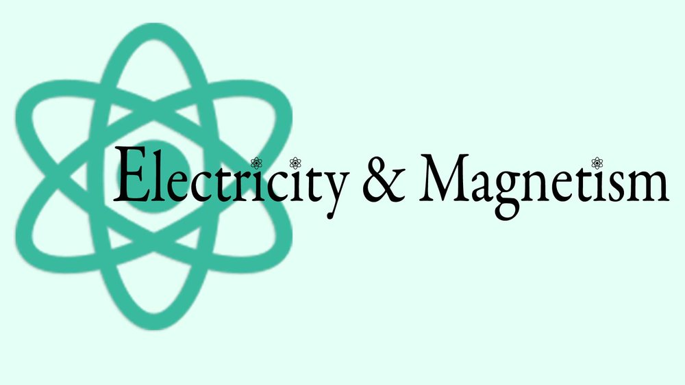 Electricity and Magnetism Graphic with Atom