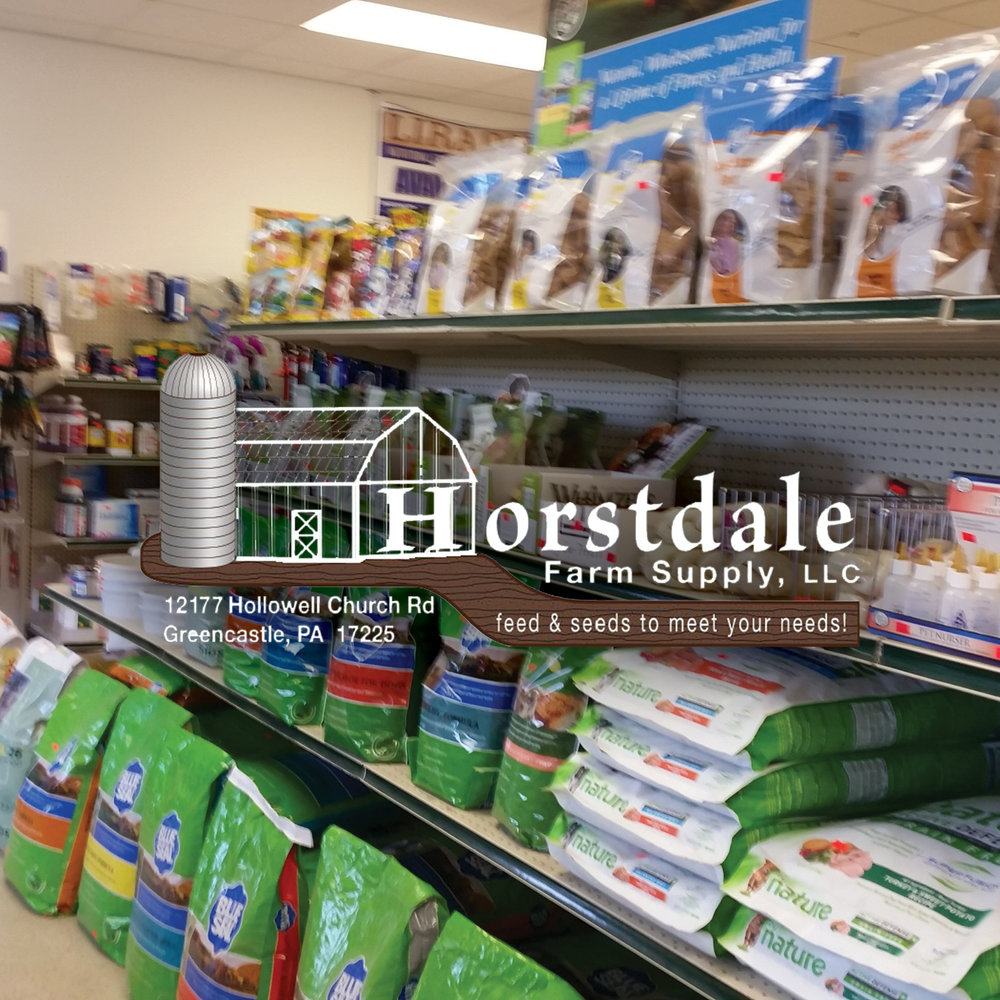 Horstdale Farm Supply LLC is the Greencastle, PA area's trusted feed and seeds supplier.. Feeds for small animals, poultry, and horses. Animal health supplies. Lawn & garden items. Seeds, sprays, fertilizers, and much more. -Click image to view current offers-.