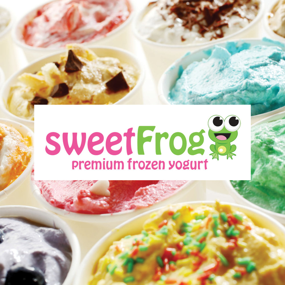 Sweet Frog is a self-serve frozen yogurt shop with over 16 amazing flavors and over 50 candy and fresh fruit toppings.    -Click image to view current offers-