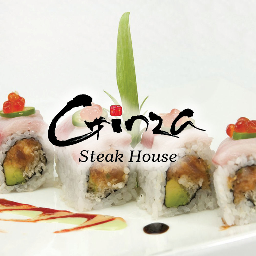 Ginza Japanese Steak House will give you a great Asian dining experience! Not only do we offer traditional Japanese Hibachi and Sushi, but we also offer classic Japanese dishes with great quality and great prices!    -Click image to view current offers-