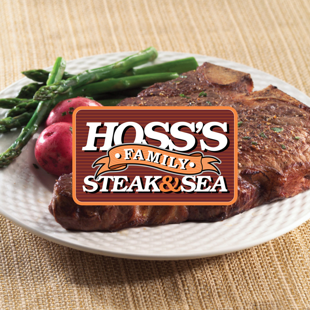 Hoss's famous soup, salad, bread and dessert bar features over 100 fresh items, including hearty from-scratch soups, salads made from Hoss's own recipes, crispy vegetables and delicious sauces. You'll also find warm hearth-baked breads, delicious fruits and desserts, and, of course, our soft-serve ice cream.   -Click image to view current offers-